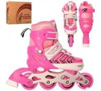 Ролики Profi размер 31-34 A4137-S-P розовые