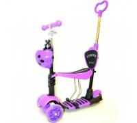 Самокат с сиденьем 5 в 1 ITrike JR 3-026-B фиолетовый