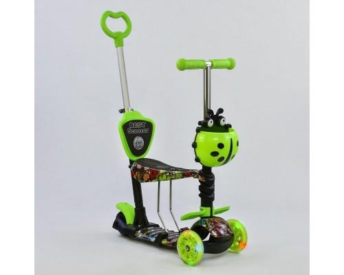 Самокат 5 в 1 Best Scooter зеленый 97630