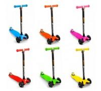Самокат Best Scooter maxi светящиеся колеса 6 цветов