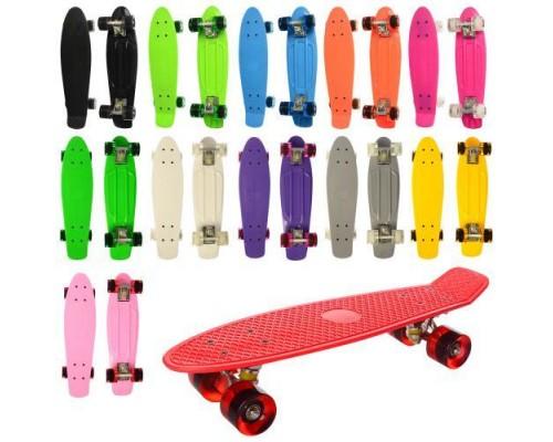 Скейт Пенни Борд (Penny Board) со светящимися колесами MS0848-1 6 цветов