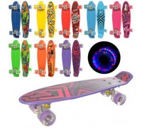 Скейт Пенни Борд (Penny Board) со светящимися колесами MS0749-1 8 цветов