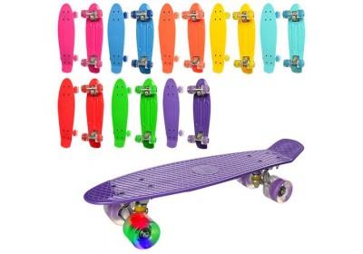 Скейт Пенни Борд (Penny Board) со светящимися колесами 22 дюйма