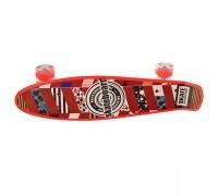 Скейт Пенни Борд (Penny Board) со светящимися колесами MS0749-1 красный
