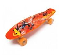 Скейт Пенни Борд (Penny Board) со светящими колесами MS0749-1 оранжевый
