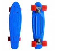 Скейт Пенни Борд (Penny Board) со светящими колесами. 22 дюйма голубой