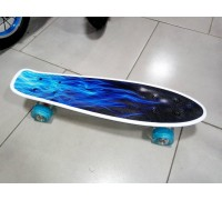 Скейт Пенни Борд (Penny Board) со светящими колесами. 22 дюйма Explore Ulster синий