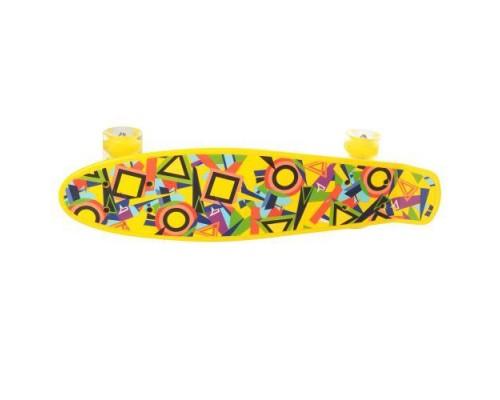 Скейт Пенни Борд (Penny Board) со светящимися колесами 22 дюйма желтый MS0749-1