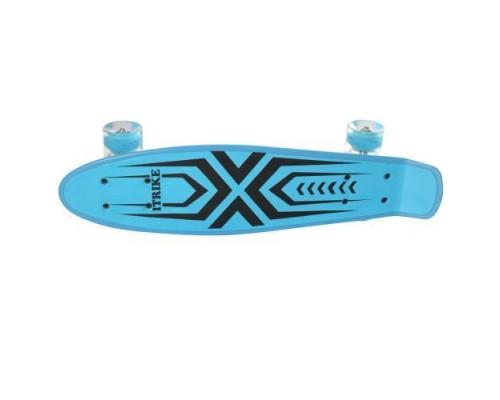 Скейт Пенни Борд (Penny Board) со светящимися колесами 22 дюйма голубой MS0749-1