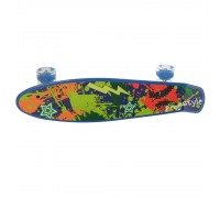 Скейт Пенни Борд (Penny Board) со светящими колесами 22 дюйма синий MS0749-1