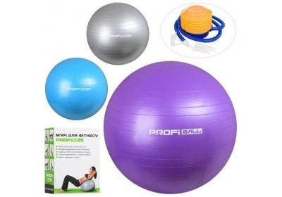 Мяч для фитнеса с насосом 85 см Profi MS1574