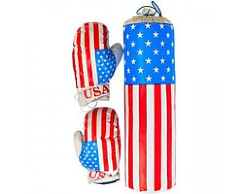 Боксерская груша с перчатками (35 см) Америка