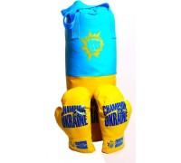 Боксерская груша с перчатками Украина (40 см)