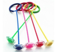 Нейроскакалка Светящаяся скакалка с колесиком на одну ногу 5 цветов
