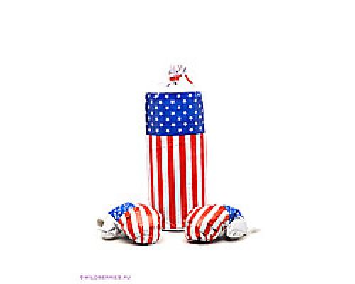 Боксерская груша с перчатками (55 см) Америка