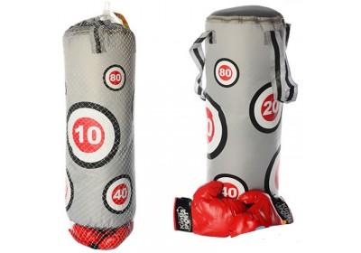 Боксерская груша с перчатками (большая 60 см)