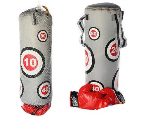 Боксерская груша с перчатками (средняя 50 см)