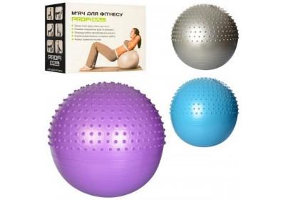 Массажный мяч для фитнеса 65 см Profi MS1652