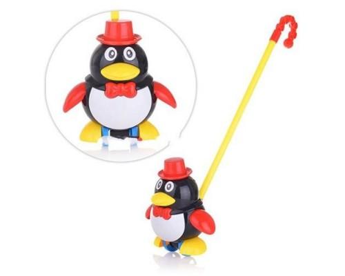 Каталка Пингвин на палочке 0339 2 цвета