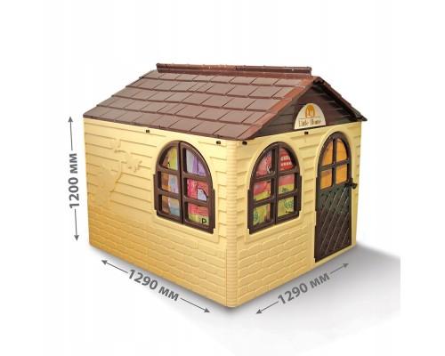 Детский игровой пластиковый домик Doloni 02550/2 со шторками