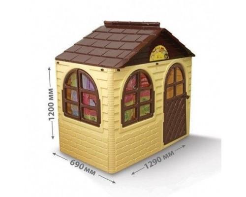 Детский игровой пластиковый домик Doloni 02550/12 со шторками
