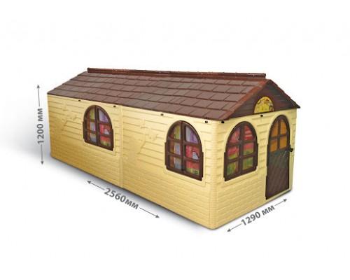 Домик игровой пластиковый Doloni 02550/22 со шторками 256*129*120 см