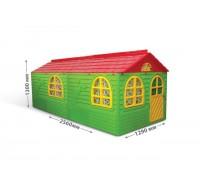 Домик игровой пластиковый Doloni 02550/23 со шторками 256*129*120 см