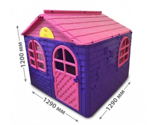 Домик игровой пластиковый Doloni 02550/1 со шторками 129*120*129 см