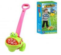 Игрушка-каталка Жабка с мыльными пузырями со светом и звуком FH775