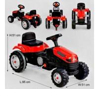 Толокар педальный трактор 07-314 красный