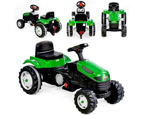 Толокар педальный трактор 07-314 зеленый