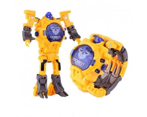 Часы трансформер аналог Robot Watch Yellow PK1082A