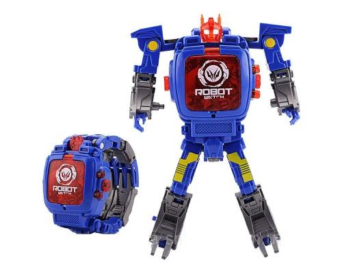 Часы трансформер аналог Robot Watch Blue PK1082A