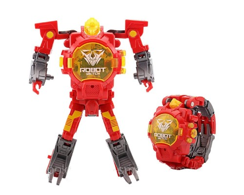 Часы трансформер аналог Robot Watch Red PK1082A