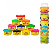Набор для лепки в тубусе 10 мини-баночек Play-Doh 22037