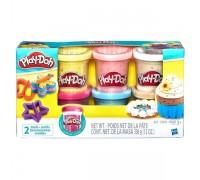 Набор теста Play-Doh с конфетти B3423 6 баночек