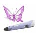 3D ручка 9910 с LCD дисплеем фиолетовая
