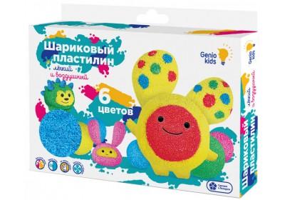 Набор для лепки Genio Kids Шариковый пластилин 6 цветов TA1802