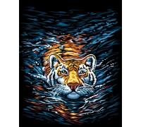 Картина по номерам KpNe-02-03 Danko Toys 40*40 см Тигр