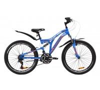 """Велосипед ST 24"""" Discovery ROCKET AM2 Vbr с крылом Pl 2020 (сине-оранжевый с белым)"""