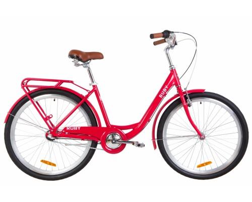 """Велосипед 26"""" Dorozhnik RUBY планет. 2020 (красный)"""