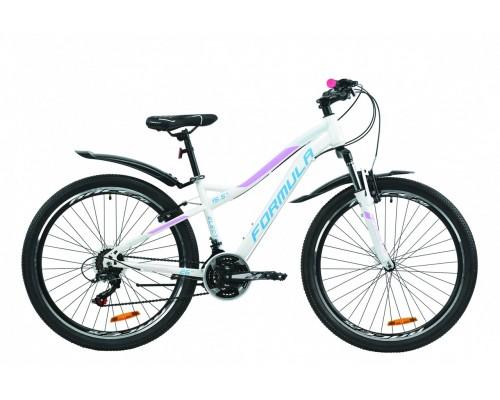 """Велосипед 26"""" Formula ELECTRA 15 2020 (бело-голубой с сиреневым)"""