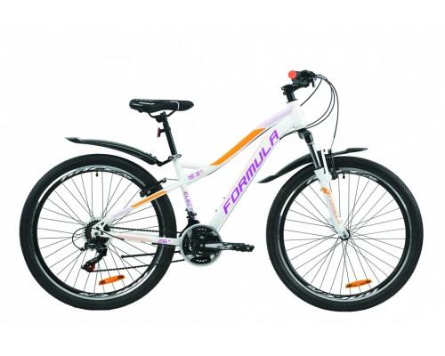 """Велосипед 26"""" Formula ELECTRA 15 2020 (бело-фиолетовый с оранжевым)"""