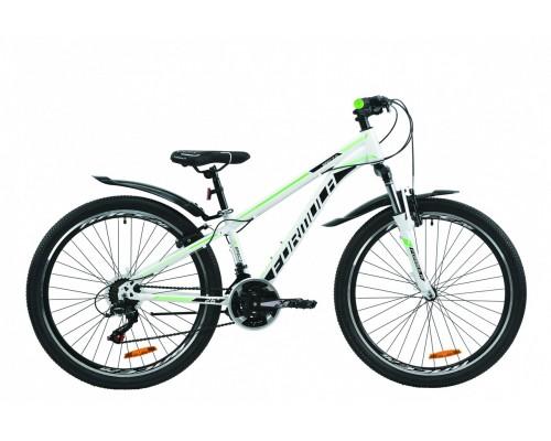 """Велосипед 26"""" Formula SPECIAL 2020 (бело-черный с зеленым)"""