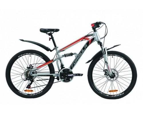 """Велосипед 24"""" Formula BLAZE DD 2020 (серо-черный с красным)"""