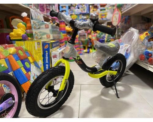Беговел детский Kids BS-1-1 на резиновых колесах 12 дюймов лимон