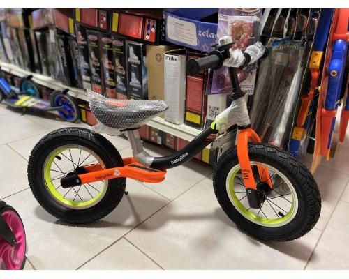 Беговел детский Kids BS-1-1 на резиновых колесах 12 дюймов оранжевый