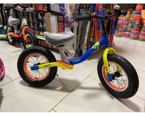 Беговел детский Kids BS-1-1 на резиновых колесах 12 дюймов синий