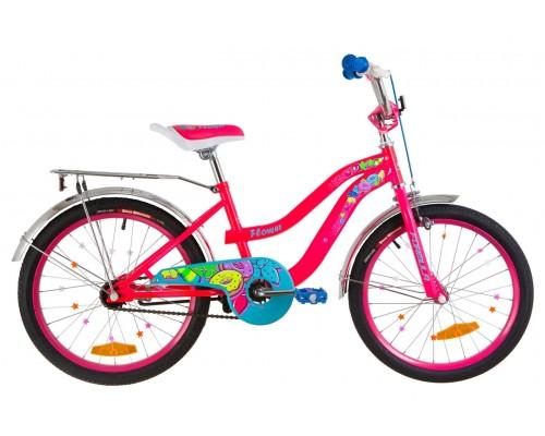 """Велосипед Velotrade 20"""" Formula FLOWER (розовый) с багажником"""