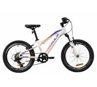 """Велосипед AL 20"""" Formula BLACKWOOD 1.0 AM Vbr 2020 (бело-фиолетовый с оранжевым)"""